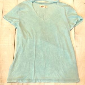Hollister tee shirt with cut out collar size XS